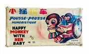 Rare Me 858 China Happy Monkey With Her Baby Antique Vintage Box Boxed Me Mf Ms
