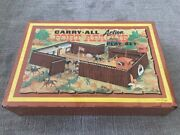 Marx Fort Apache Carry-all With Accessories Cavalry, Infantry, Pioneers, Indians