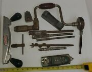Lot Of Vintage Tools Stanley Craftsman And Miller Falls See Photos