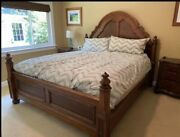 Ethan Allen Tuscany Queen Bed Frame 4 Panel Poster Bed With Canopy 32-5640 333