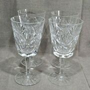 4 Waterford Crystal Ashling 6 7/8 Water Goblets Lot 1