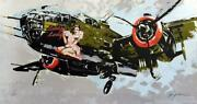 Michael Bryan Lucky Lady Ww2 Bomber Hand Signed Lithograph