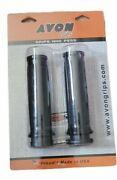 Avon Black Custom Contour Hand Grips For 2008-2014 Harley Throttle-by-wire