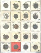 Canada Large Cent Collection 1859 Thru 1920 35 Different Pieces Vg/xf
