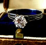 Vintage Nearly 0.95-1 Ct Old Dimond Ring Gold