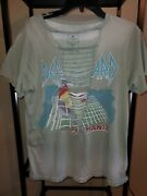 Trunk Ltd Def Leppard Cut Out Green T-shirt Large Used