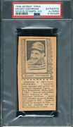 Psa Authentic Mickey Cochrane 1936 Detroit Times Hand Cut Stamp Graded Mlb Tphlc