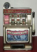 Buckaroo Bank Heavy Duty Toy Slot Machine Coin Bank Well Made Works Great