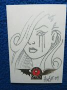 Linsner Dawn 20th Anniversary Deluxe Friends Of Dawn Haeser Hand Sketch Card