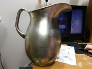 Us Army Vollrath Company Huge 2 Galloon Steel Pitcher 1940.nice And Huge
