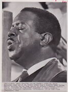 Ralph Abernathy Singing Hymn Martin Luther King Funeral 1968 Civil Rights Photo