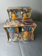 8 Anchor Hocking Garfield 12 Oz. Drinking Glasses With Dots Balloons With Box