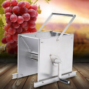 Manual Stainless Steel Grape Wine Cider Press Juice Crusher Equipment Sliver New