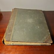 1876 Victorian 66 Page Scrapbook W/ Trade Cards Lace Die Cuts And More