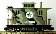 Lionel Army Caboose W/ Metal Wheels  Rare New