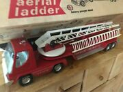 Vintage Nylint Aerial Hook And Ladder Fire Truck And Trailer Original Box