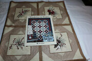 Woodrose In Winter Fabric Panel 49 X45 And Pattern Book By Holly Taylor 6170