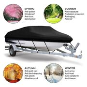 14-16ft 210d Boat Cover Waterproof Boat Accessories For V-hull Runabouts Speed
