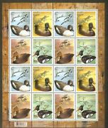 Canada 2006 Andnbspduck Decoys Sc2163-2166 Pane Of 16 Stamps M Vf Nh