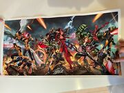 Stan Lee And J.scott Campbell Hand Signed Poster Excelsior Approved