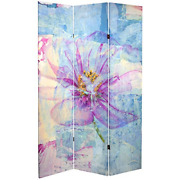 Oriental Furniture Tall Double Sided Love Blossom Canvas Room Divider 6and039