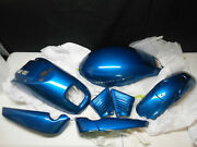 Harley And03902-06 V-rod Paint Set Chopper Blue Air Box Fenders Radiator Covers Tins