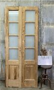 8 Pane French Glass Doors Antique French Double Doors Old Wood Doors M14
