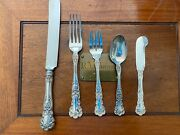 Gorham Buttercup Stering Silver Set For 6 By 5 True Dinner Size Largest Size