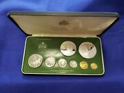 1979 Guyana Proof Coin Set Of 8 Coins Complete With Case And Coa L@@k Nice Coins