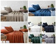 Single Bed Sheets Flat Fitted Pillowcases Bedding Set White Bed Linen