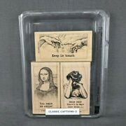 Stampin Up Classic Captions Rubber Stamp Set Mona Lisa Keep In Touch Humor 2003