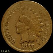 1877 Indian Head Cent Low Mintage Key To The Series Ih320
