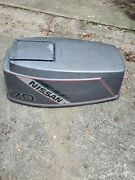 1990 And039s Nissan 70 Hp 2 Stroke Hood Top Cowl Cowling Shroud F