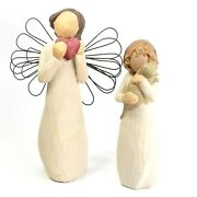 Susan Lordi Willow Tree Figurines Angel Of The Heart And Affection Angel Lot Of 2