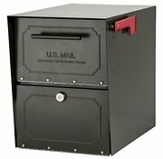 Architectural Mailboxes 6200z-10 Oasis Classic Locking Post Mount Mailbox Gra...