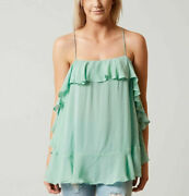 Nwt Intimately Free People S And M Ruffle Cami Tunic Tank Top