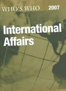 Who's Who In International Affairs 2007 By Europa Publications 9781857433616