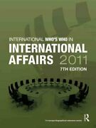 Who's Who In International Affairs 2011 By Europa Publications 9781857435757