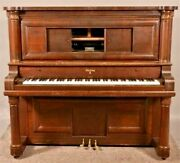 Antique Sterling Player Piano. Beautiful Columns And Detail. Amazing.