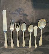 Schofield  Lorraine Sterling Silver Ster Set Hand Engraved Set 4 By 7  Mono S