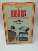 Vintage Weber 8801 Grill Barbecue Accessories Starter Set Factory Sealed