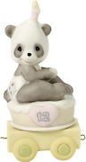 Precious Moments, 16 And Feline Fine, Birthday Train Age 16, Bisque Porcelain...