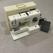 Pfaff 1209 Compact Sewing Machine W/idt System Tested Working W/ Bobbin And Pedal