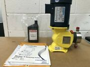 Milton Roy D43x7pm4nmn Pump With Leeson C4t17fc40a 1/2 Hp Motor