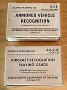 Vintage Dept. Of Army Aircraft-armored Vehicle Recognition Study/playing Cards