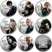 2020 Fiji Harry Potter Complete Set Of Eight 1 Oz Silver Proof Coins Sold Out