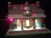 Christmas Village Train Station Lemax Coventry Cove 35495 East Lake Sound Light