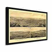 1877 Map Of Los Angeles California - Framed Vintage Los Angeles Wall Art Poster