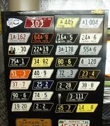 Replica Complete Set Tennessee Tenn Mototcycle License Plates Tags State Shaped
