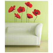 Floral Art Wall Decals Removable Repositionable Vinyl Vertical